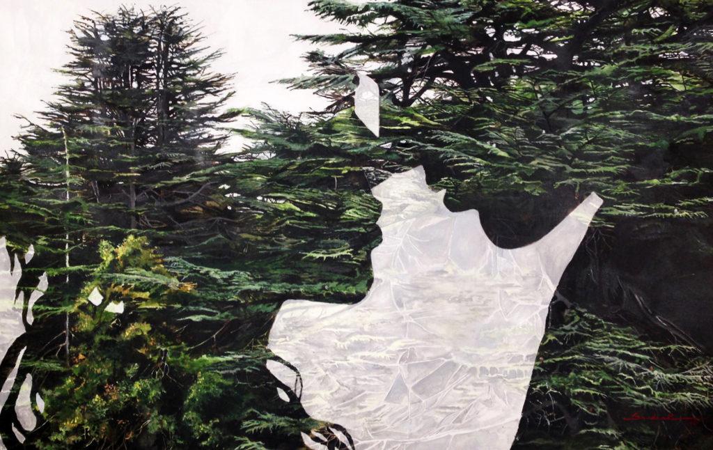 The Cedar In Their Heart  |  Acrylic 2016 |  120x75 cm
