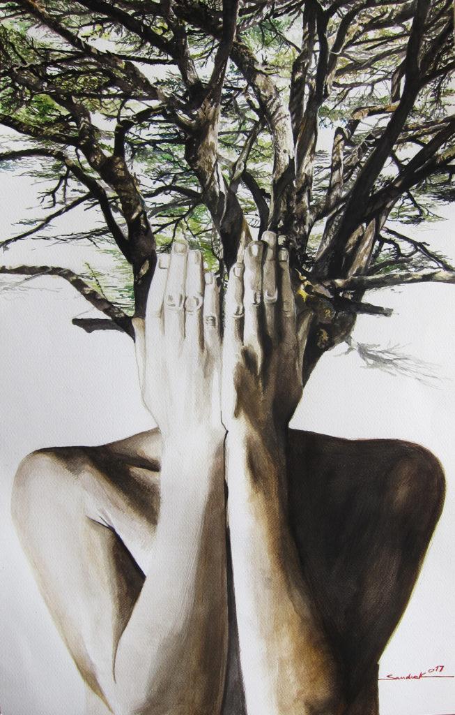The Hidden Beauty  |  Aquarelle  |  70x44.5cm
