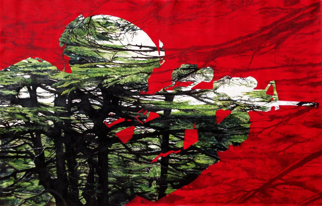 The Guardian of The Cedar  |  Acrylic  |  193x129cm