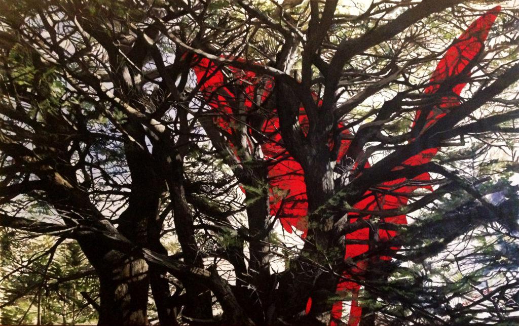 The Red Dove  |  Acrylic  |  218x138cm