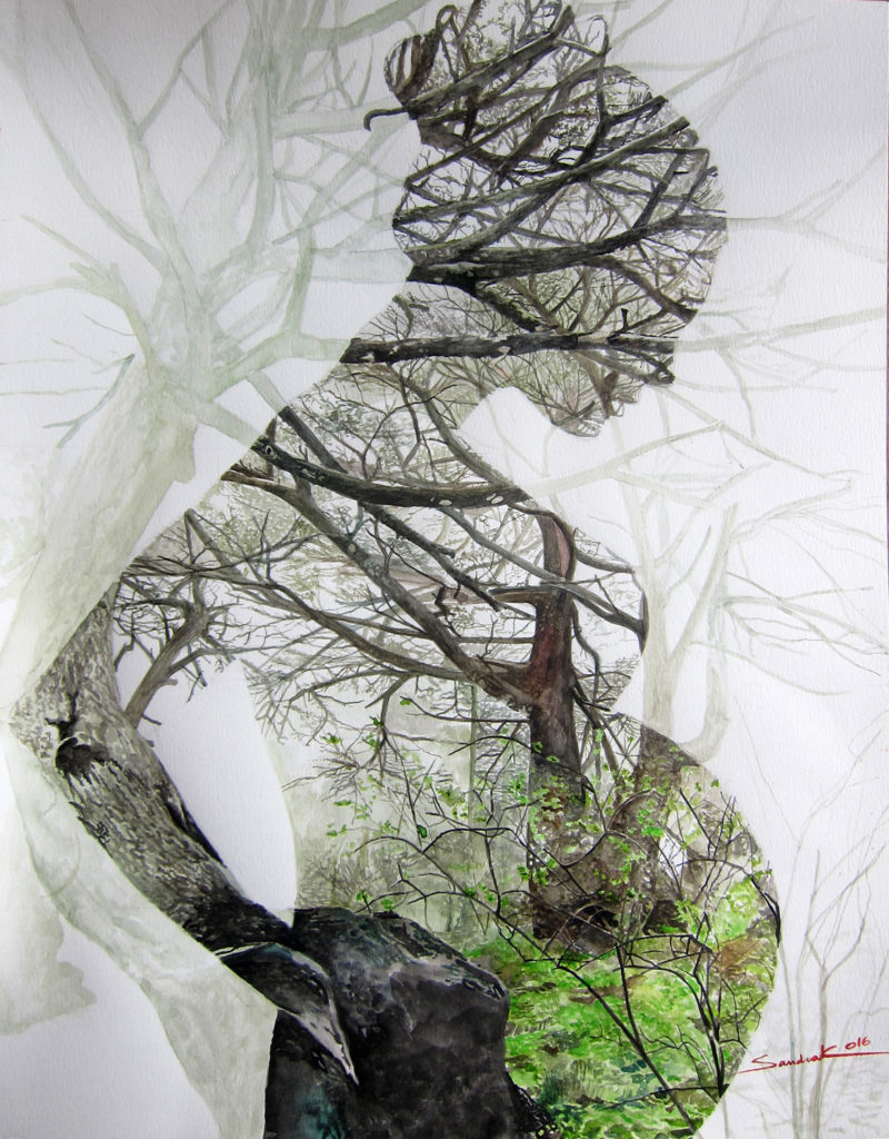 It Lives in us  |  Aquarelle  |  63x50cm