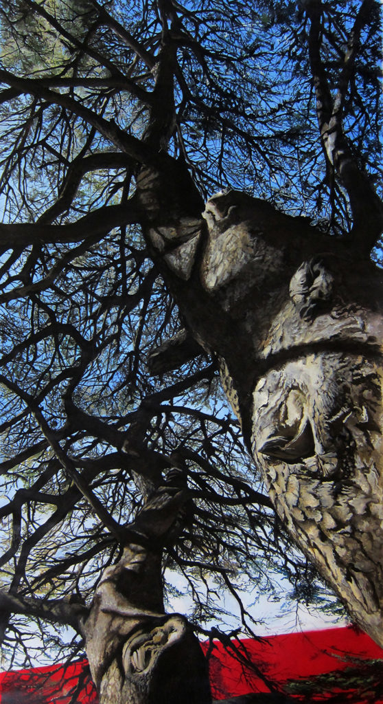 In The Shade of  The Cedar  |  Acrylic  |  145x252cm LR