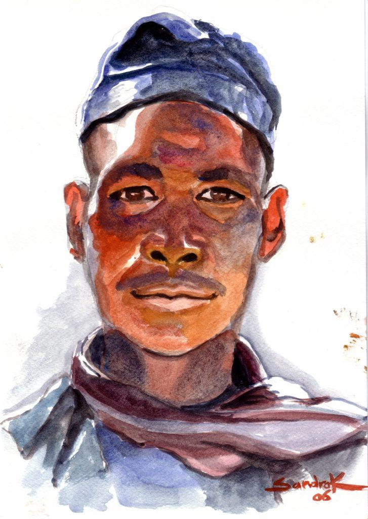 Jeune Nepalais watercolor on paper