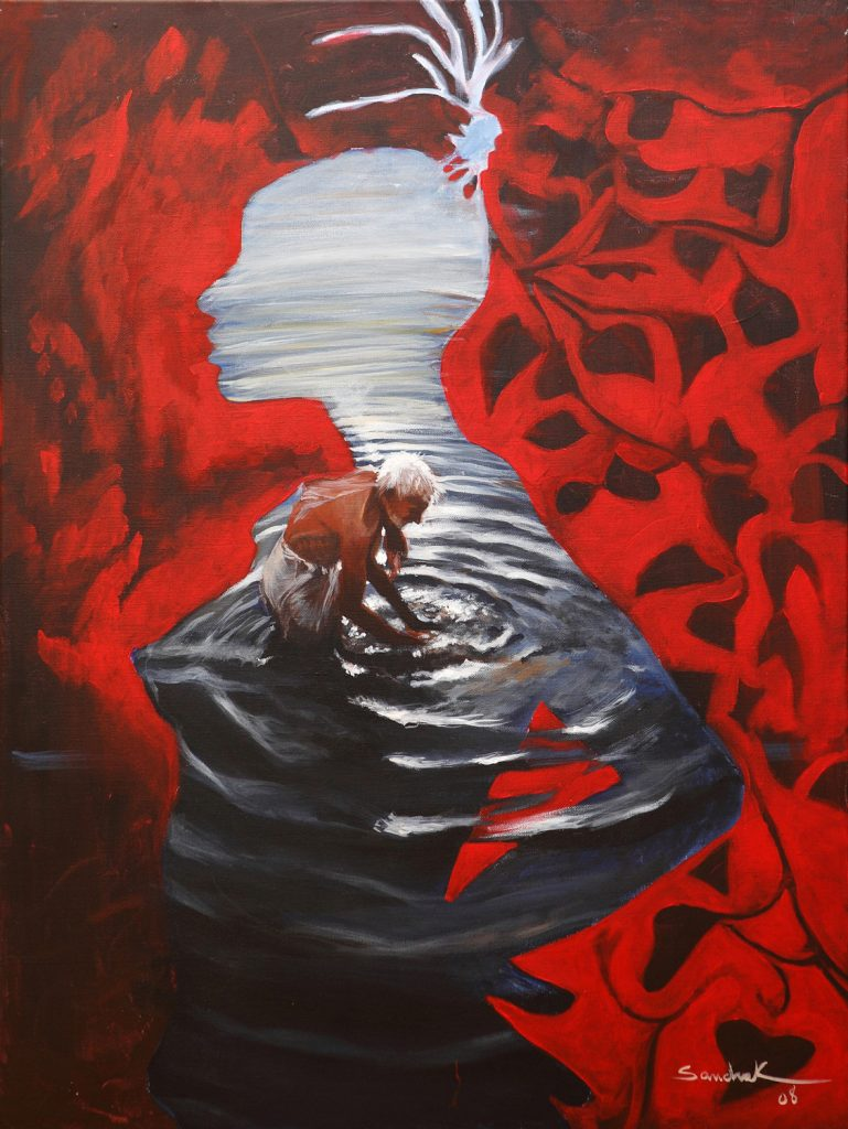 Deep waters 60x80 acrylic on canvas 2008