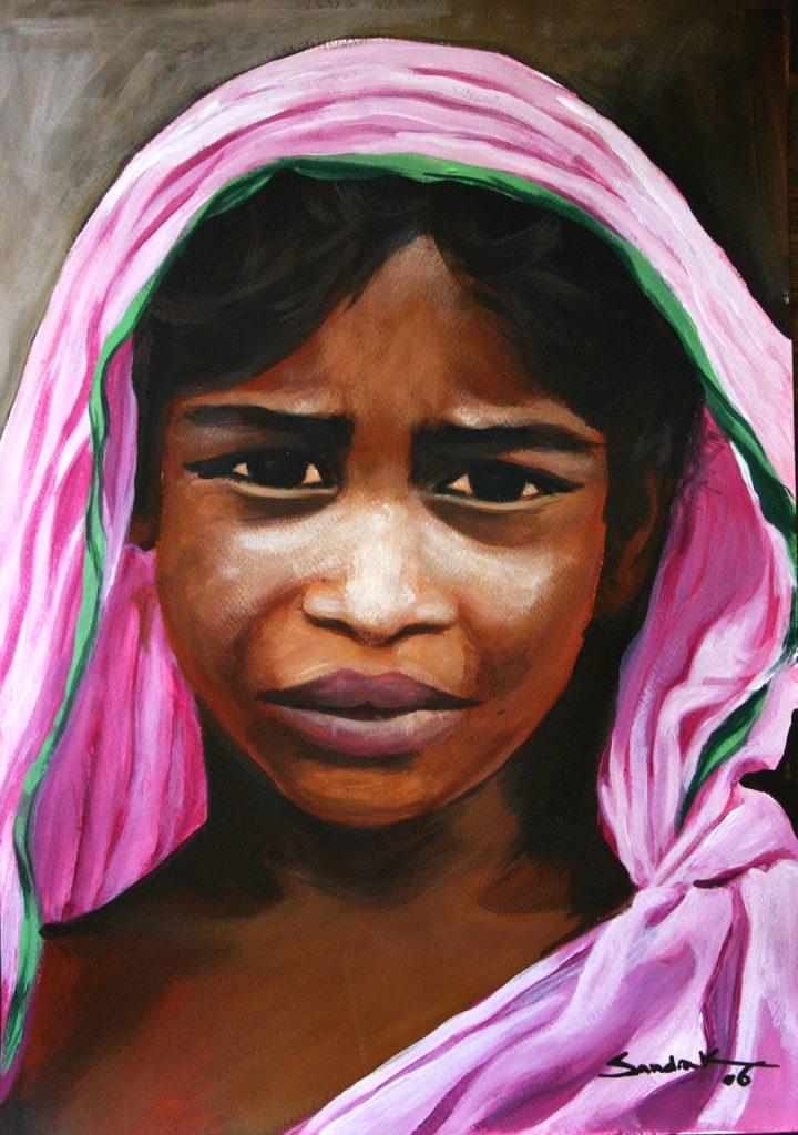 Gips girl-3 42x30 acrylic on paper 2006