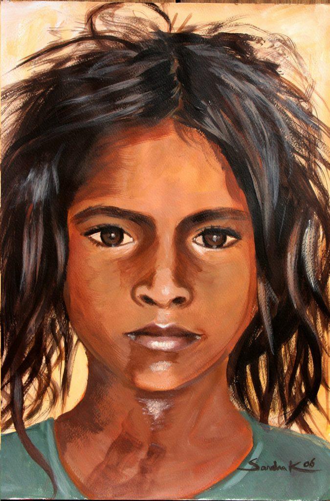 Gipsy girl-1 42x30 acrylic on paper 2006
