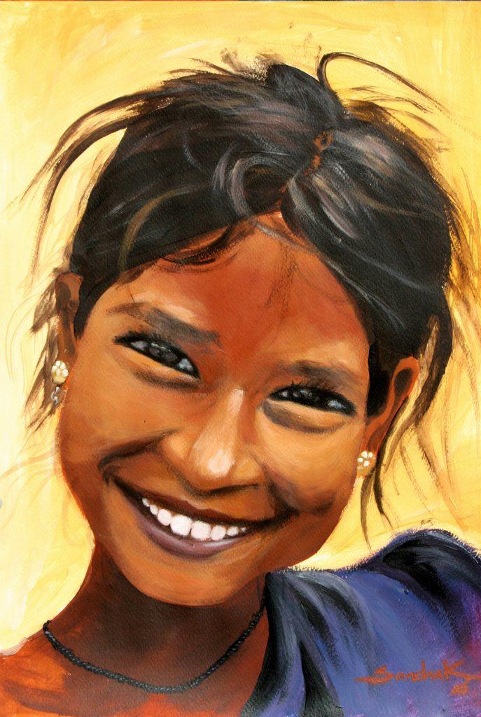 Gipsy girl-2 42x30 acrylic on paper 2006