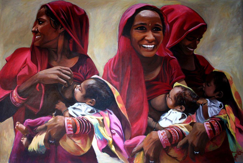 Maternite acrylic on canvas 2006