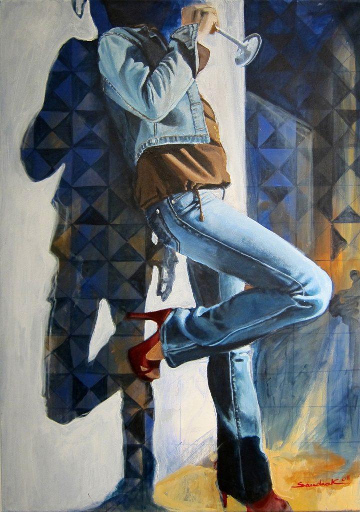 Oriental shadows 50x70cm acrylic on canvas 2011