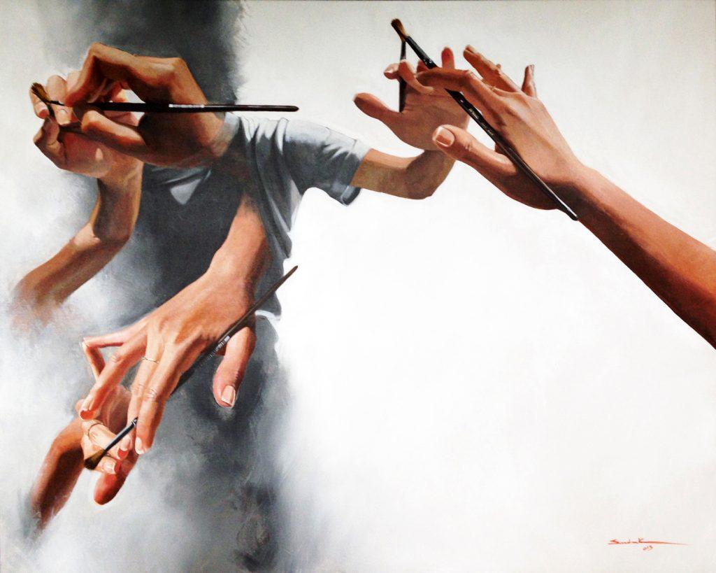 Self created artist acrylic on canvas 2013