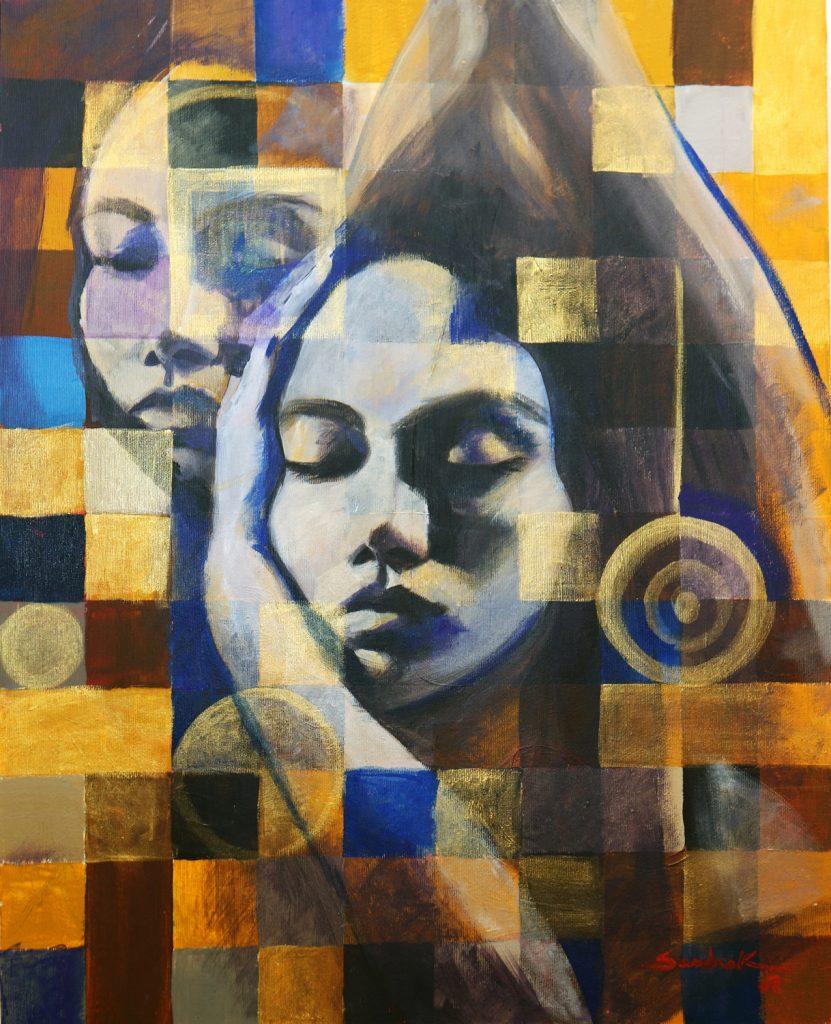Shadows 60x48 acrylic on canvas 2007