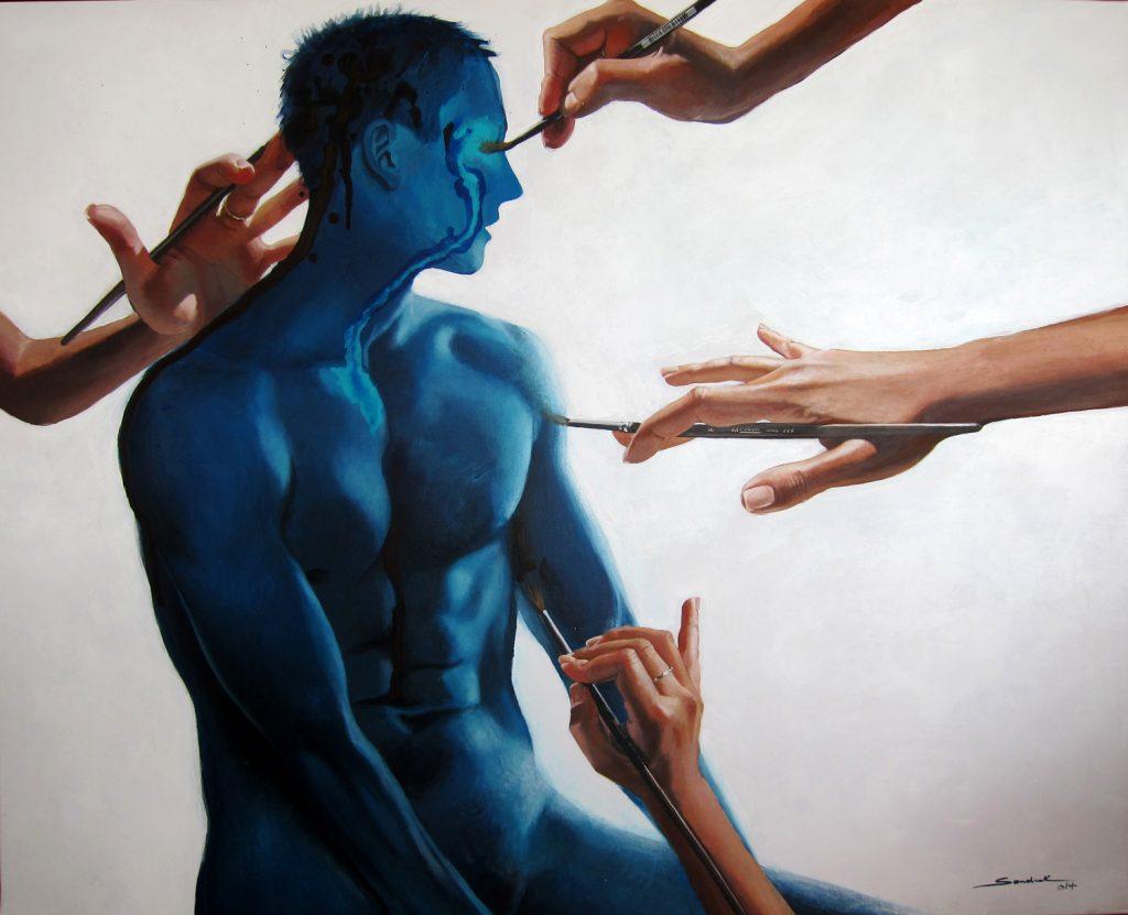 The blue appolo 100x125cm acrylic on canvas 2014