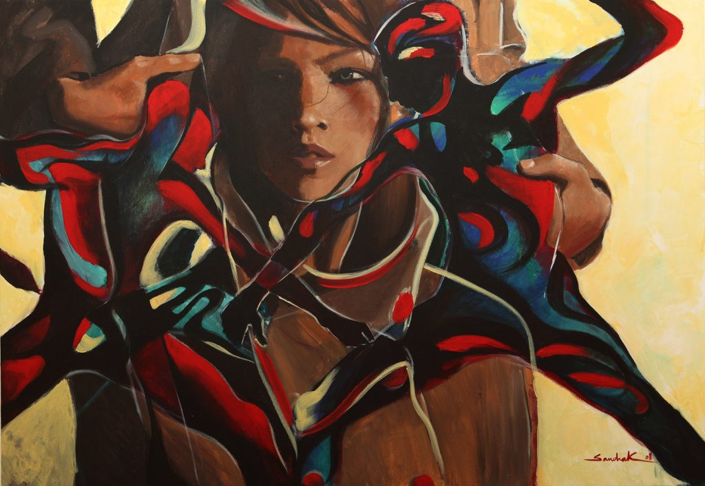 The butterfly coat 70x100 acrylic on canvas 2008
