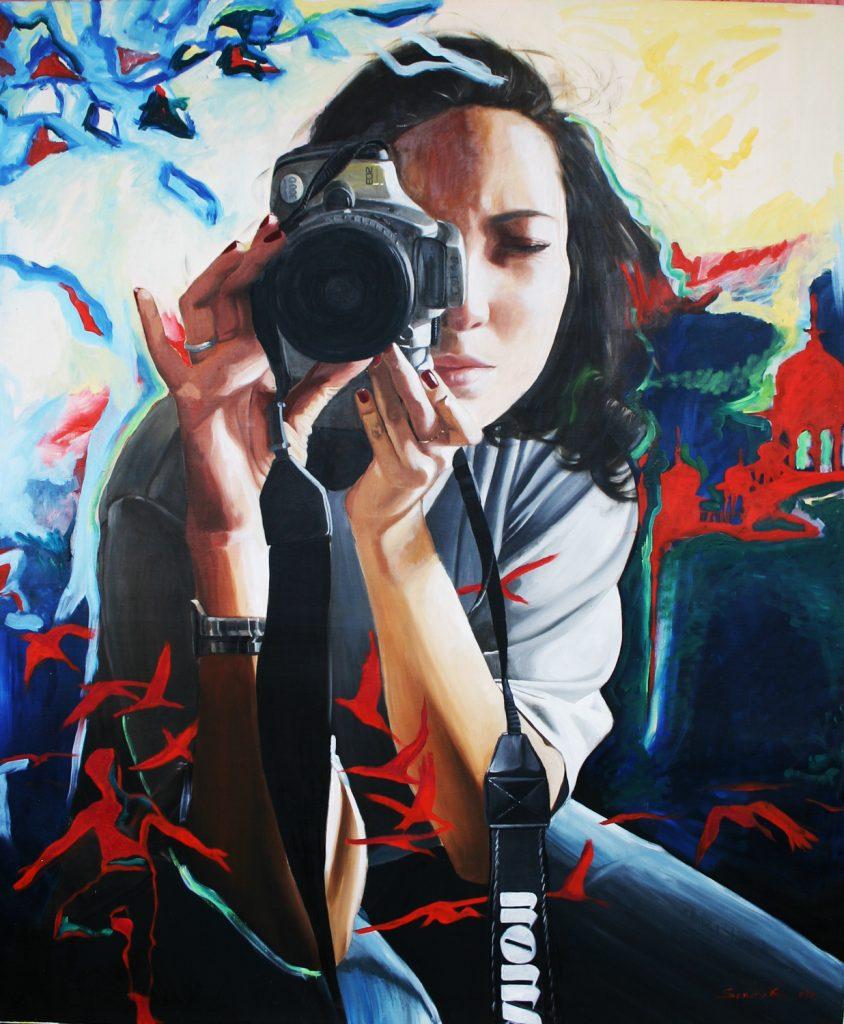 Travelling self portrait